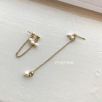Meree - Golda Anting Fashion Wanita Stainless Steel Gold