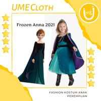 Fashion Kostum Anak Perempuan Dress Karakter Frozen Anna 2 - 150