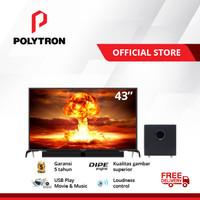 POLYTRON Cinemax Soundbar LED TV 43 inch PLD 43B150 /W