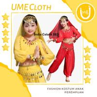 Fashion Kostum Adat India - Baju Celana Anak Perempuan 883 FREE Acc