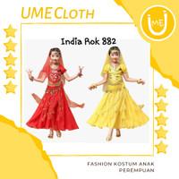 Fashion Anak Kostum Adat India - Baju Rok Anak Perempuan 882 - Merah, XS