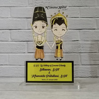 Trophy Wedding, Wedding Trophy, Plakat Custom, Plakat akrilik Murah