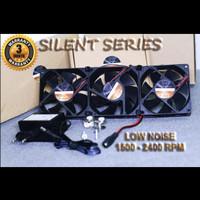 Silent cooling fan aquarium kipas aquascape single double triple 1 2 3