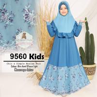 Baju Muslim Gamis set anak perempuan / baju ngaji anak 9 10 11 12 thn