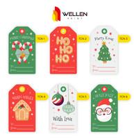 Hang Tag Natal Tag Kado HangTag Custom Parcel Kartu Ucapan Christmas 1
