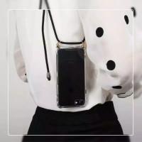 0488 LDacc Samsung J7 Prime sling case tali anti crack Bening Lanyard