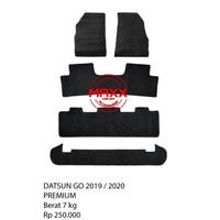 Karpet Mobil Logo-Karpet Karet DATSUN GO 2019-2020 Full Set Bagasi