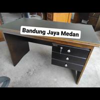 Meja Kantor / Kerja 1/2 Biro Solid Wood uk. 120cm
