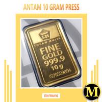Emas Antam 10 gram Kemasan Press Logam Mulia Emas Batangan