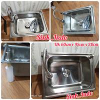 bak cuci piring stainless 1 lubang Kitchen Sink westafel cuci piring