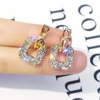 anting fashion square full diamond earrings jan220