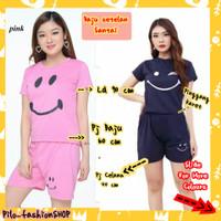 Fashion Setelan Wanita || setelan baju celana santai || Baju setelan - Yellow, Set Motif Wink
