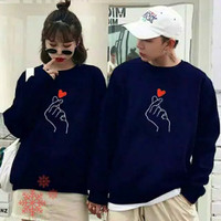 Baju Sweater Couple Lengan Panjang Kapel Murah Pria Wanita Sama
