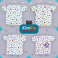Baju Bayi 4PCS Baru Lahir Laki Laki Perempuan Kimfa SNI Jamur Pendek