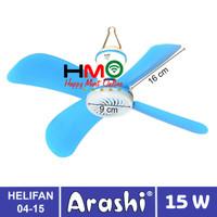 Kipas Angin Gantung Helifan 15 Watt Arashi AR-228 15Watt