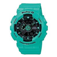 Jam Tangan Wanita Casio Baby-G Black Digital Analog Green BA-111-3ADR