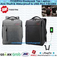 TIGERNU Backpack Tas Laptop Anti Theft & Waterproof & USB Port T-B3269