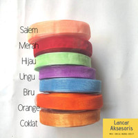 Pita Organza / Pita Organdi Polos 1/2 per roll Bahan Craft pita kado