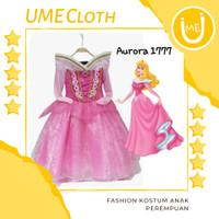 Fashion Kostum Anak Perempuan Dress Karakter Princess Aurora