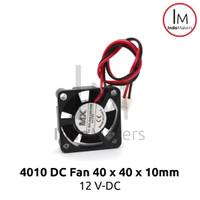 DC Mini Cooling Fan 4010 12V for 3D Printer / Computer 2 pin