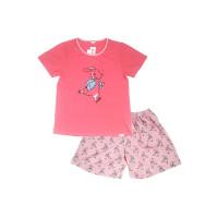 Puppy Piyama Short Sleeve Short Pants Pink Rabbit Sleepwear