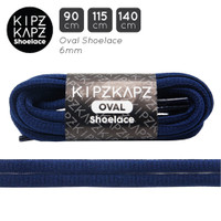 KipzKapz OS8 Navy 90cm 115cm 140cm - Tali Sepatu Oval Shoelace