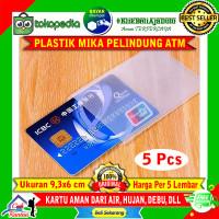 Plastik Cover Mika Pelindung Kartu Anti Air ATM KTP SIM Card Per 5 Pcs