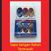Saputangan Pria Sapu Tangan Katun Handkerchief Isi 6 Gelap atau Terang