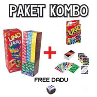 Paket Uno Stacko + Kartu Uno Wild