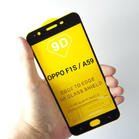 Tempered Glass OPPO F1S / A59 Full Layar 9D /11D - Hitam