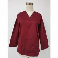 baju oka lengan panjang (atasan saja)/seragam perawat/baju dokter jaga - S