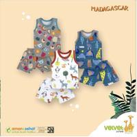 Velvet Junior BasicWear Madagascar Series – Setelan Singlet