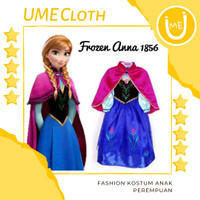 Fashion Kostum Anak Perempuan Dress Karakter Frozen Anna 1