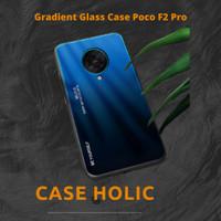 Gradient Glass Hardcase Back Cover Casing Poco F2 Pro Pocophone Bumper