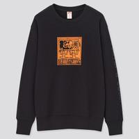 Sweater Uniqlo Original Mickey Mouse x Keith Haring Black
