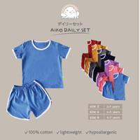 Baju Kaos Anak Daily wear Baju setelan Aiko Daily Set - Yellow mustard, 2 ( 2-3YO)