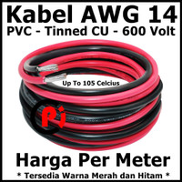 Kabel AWG 14 PVC Tinned CU AWG14 Up To 105 Celcius 600 Volt Per Meter