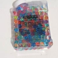 mainan water beads rainbow