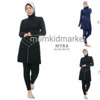 Baju Renang Muslim Muslimah Dewasa Syari Ciput Myra Edora - M