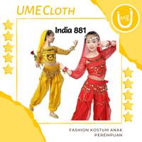 Fashion Anak Kostum Adat India - Baju Celana Anak Perempuan 881 - Merah, S