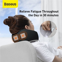 Baseus Thermal Series U-Shaped Neck Pillow Bantal Leher Travel Pesawat