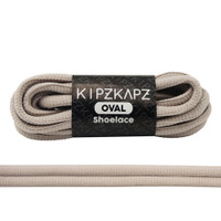 KipzKapz Shoelace -  Tali Sepatu Abu Abu Oval 6mm - Grey 115cm