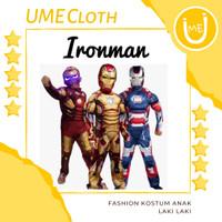 Kostum Superhero Fashion Anak Laki Baju IronMan - S