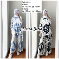Setelan Blus Shibori Matahari Handmade Setelan Baju Celana Modern