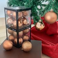 Bola Natal 6cm / Hiasan Pohon Natal / Christmas Balls