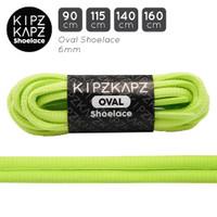 KipzKapz OS4 Neon Lime 90cm 115cm 140cm 160cm Tali Sepatu Oval