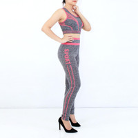 Sport bra legging set 2in1 baju senam jogging zumba fitness yoga