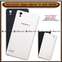BackDoor Tutup Casing Belakang HP Oppo Mirror 5 A51 A51W Cover - Hitam