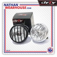 Reflektor Lampu Depan Headlamp Bulat Besi Tralis Jap Style Grill HL01