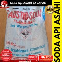 Soda api ASAHI/ Caustic soda / NaOH 500 gr